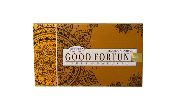 Благовоние пыльцовое Good Fortune-Везение, (Deepika), 15 гр, 12 уп./коробке (б-03-10)