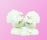 Фарфоровая фигура: голуби с камнями (фф-19)