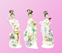Фарфоровая фигура: девушка-гейша стоит (фф-56)