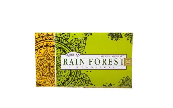 Благовоние пыльцовое Rain Forest-Тропический лес, (Deepika), 15 гр, 12 шт/уп (б-03-04)