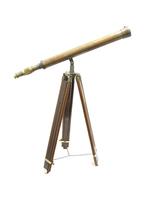 Телескоп латунный на деревянной треноге (тл-21)