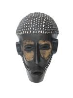 Маска африканская ритуальная, племя Маконда, дерево цейба (мэ-24-15)