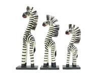 Набор белых тертых зебр (зн-01, зн-02, зн-03)