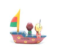 """Два котика сидят на лодочке с парусом и надписью """"Любовь"""" (кд-43)"""