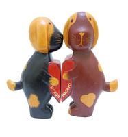 """Два котика/зайчика держат сердце - """"Я тебя люблю"""" (набор), 4 вида (кн-30)"""