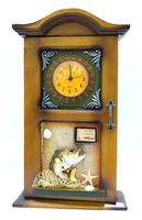 Морская тематика: ключница с часами, под старинный комод (мт-16)