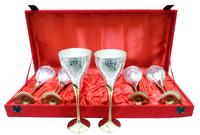 Набор фужеров для шампанского в синей коробке, 3 вида (нр-74)