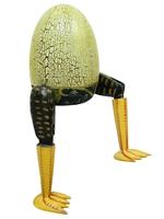 Яйцо с ногами, крекинг, внизу батик (я-10)