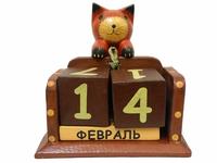 Календарь с висячим на веревочке котом, собачкой, лягушкой, коровой цвета в ассортименте (к-354)