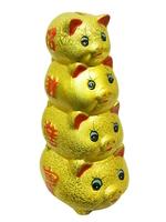 Керамические свинки, 4 друг на друге - копилка (кк-06)