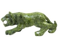 Тигр из камня светлый/зеленый (ки-08)