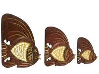Набор тонких рыб с зеркалом, 3 цвета (р-116, р-117, р-118)
