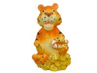 Керамический тигр сидит на деньгах, 2 вида (тк-10)