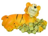 Тигр керамический с деньгами (тк-11)