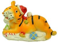 Тигр керамический с шапкой (тк-06)