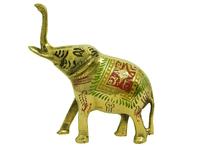 Слон латунный с рисунком на боку (сл-09)