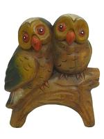 Две совы на ветке, 2 вида (см-25)