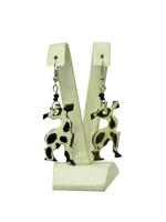 """Африканские сережки """"Жираф"""" из кости буйвола и черного дерева (ау-05-04)"""