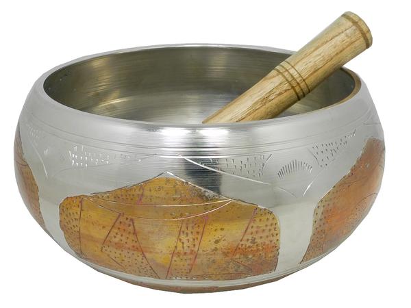 Поющая  чаша для медитаций  + пест, 3 цвета (чл-29 + пм-42)