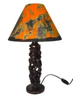 Лампа-торшер эбеновая с батиком, 40 см (лэ-02)