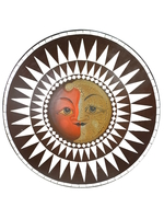 Солнышко с ликом, (Индонезия), d-60 см, (си-24)