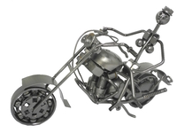Арт: металлический мотоцикл с наездником, 6 видов (ам-20)