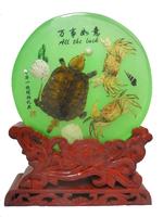 Черепаха и крабы в стекле (но-06)