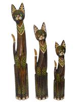 Набор коричневых котов с камешками на шее (к-841, к-842, к-843)
