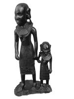 Фигура эбеновая: африканки с детьми (фэ-75)