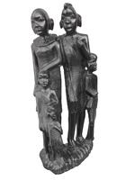 Фигура эбеновая: африканская семья (фэ-34)