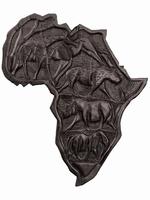 Карта Африки эбеновая с резьбой (кэ-07)
