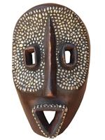 Маска африканская ритуальная, племя Маконда, дерево цейба (мэ-24-08)