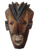 Маска африканская ритуальная, племя Маконда, дерево цейба (мэ-24-11)
