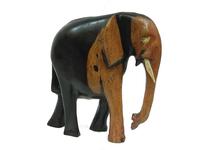 Слон эбеновый, хобот вниз, 2 вида (сэ-14)