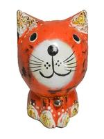 Котик с колокольчиком, антик с краской, 4 цвета (кн-203)