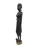 Фигура  эбеновая африканка с мотыгой (фэ-23)