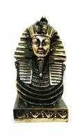 Фигурка: голова фараона покрытая медью (пф-43)