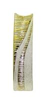 Ваза керамическая плоская, золотая со стразами, горлышко с вырезами и дырками (вк-140)