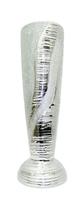Ваза керамическая плоская, золотая со стразами, горлышко как лейка (вк-139)
