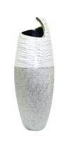 Ваза керамическая с серебром, горлышко закрученное в спираль (вк-135)