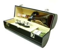 Винный набор на две бутылки с набором сомелье, черный (вн-04)