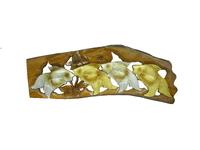 Панно тиковое: 2 золотых  и 2 серебряных карася, 2 вида (пт-126а)
