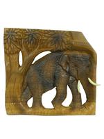 Панно тиковое: слон (пт-118а)