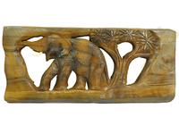 Панно тиковое: слон (пт-118в)