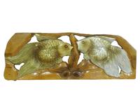 Панно тиковое: золотой и серебряный карась, 2 вида (пт-124)