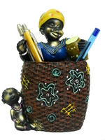 Фигурка: подставка под ручки с толстой африканкой (пф-02)