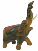 Слон манго, хобот вверх, спина раскрашенная (см-50)