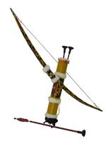 Лук с колчаном с тканью, стрелы с присосками (л-151)