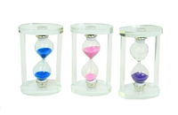 Часы песочные пластиковые прозрачные (чп-12)