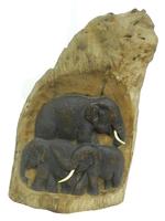 Слоны тиковые в дереве, 2 вида (ст-69)
